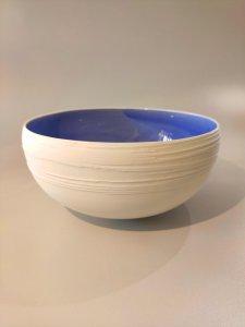 Schale innen blau - 19 x 10cm