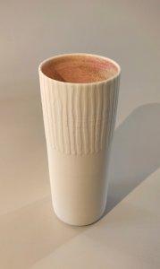 Vase innen ochsenblut - 8 x 17,5cm