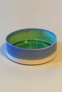 Schale - zylindrisch - Kristalle - 5 x 15 cm