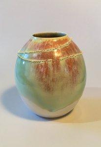 Vase - Spitzen - bauchig - 13 cm hoch