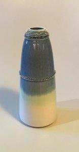 Vase - Spitzen - petrol - 19 x 3 cm