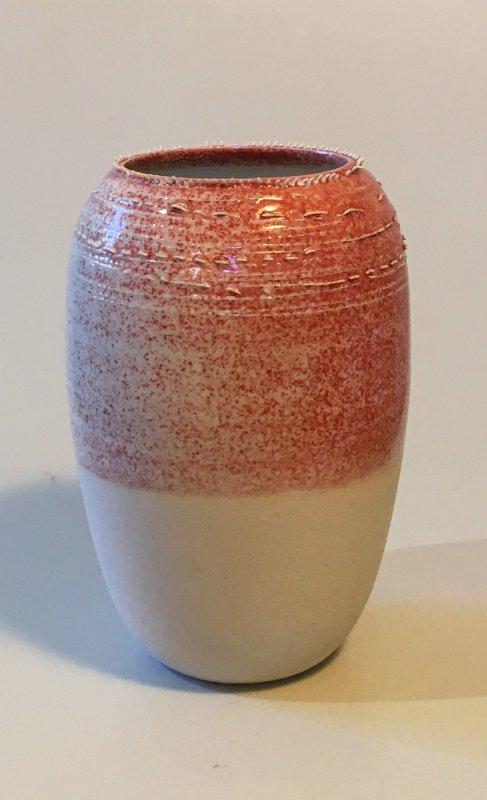 Vase - Spitzen - rosa - 16 x 7 cm