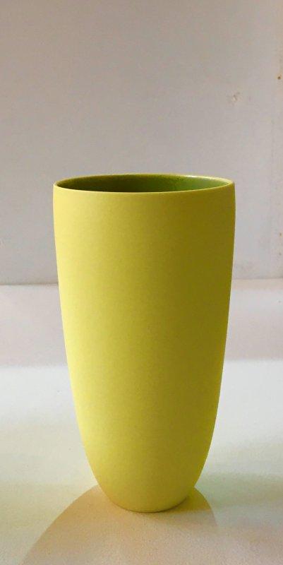 Becher - gelb - 15 x 7,5 cm