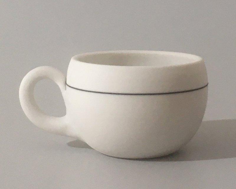 Espresso mit Linie - 4 x 5,5 cm
