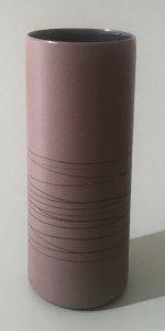 Vase - zylindrisch - dunkelflieder - 17 x 7 cm