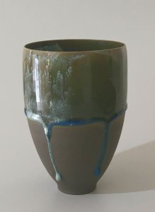 Tropfenvase - anthrazit - 14,5 x 10 cm